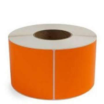 Picture of Fluro Orange 101mm x 149mm 76mm core 1 across Label 1,000per roll
