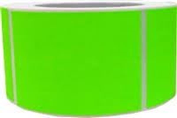 Picture of Fluro Green 101mm x 149mm 76mm core 1 across Label 1,000per roll
