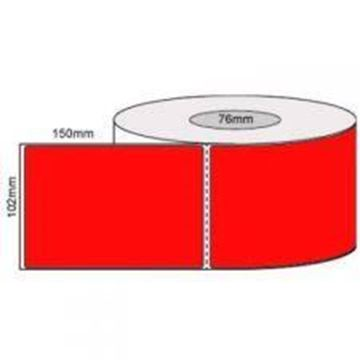 Picture of Fluro Red101mm x 149mm 76mm core 1 across Label 1,000per roll