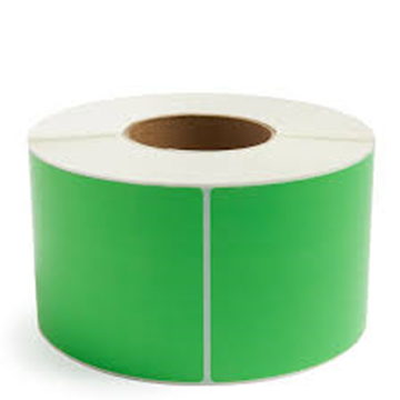 Picture of Fluro Green 101mm x 73mm 76mm core 1 across Label 2,000per rl