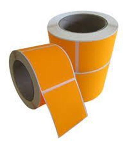 Picture of Fluro Orange 101mm x 73mm 76mm core 1 across Label 2,000per roll