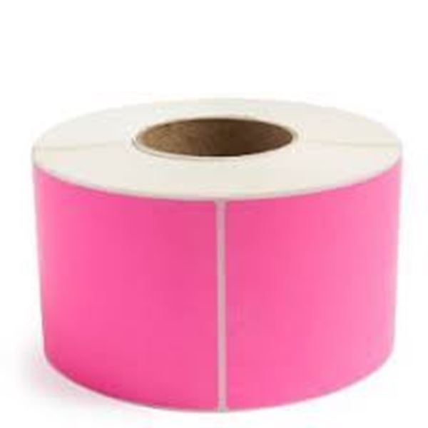 Picture of Fluro Pink 101mm x 73mm 76mm core 1 across Label 1,000per roll
